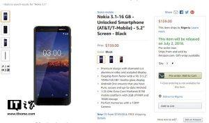 诺基亚3.1携安卓8.1归来预售   亚马逊售价159美元!