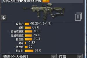 人民之声HK416与塞壬之怒属性对比